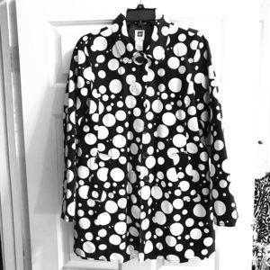 Nice polka dotted coat